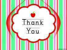Teacher Appreciation Thank You Card Template
