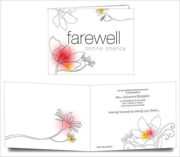 64 Creative Farewell Card Template For Boss Templates with Farewell Card Template For Boss