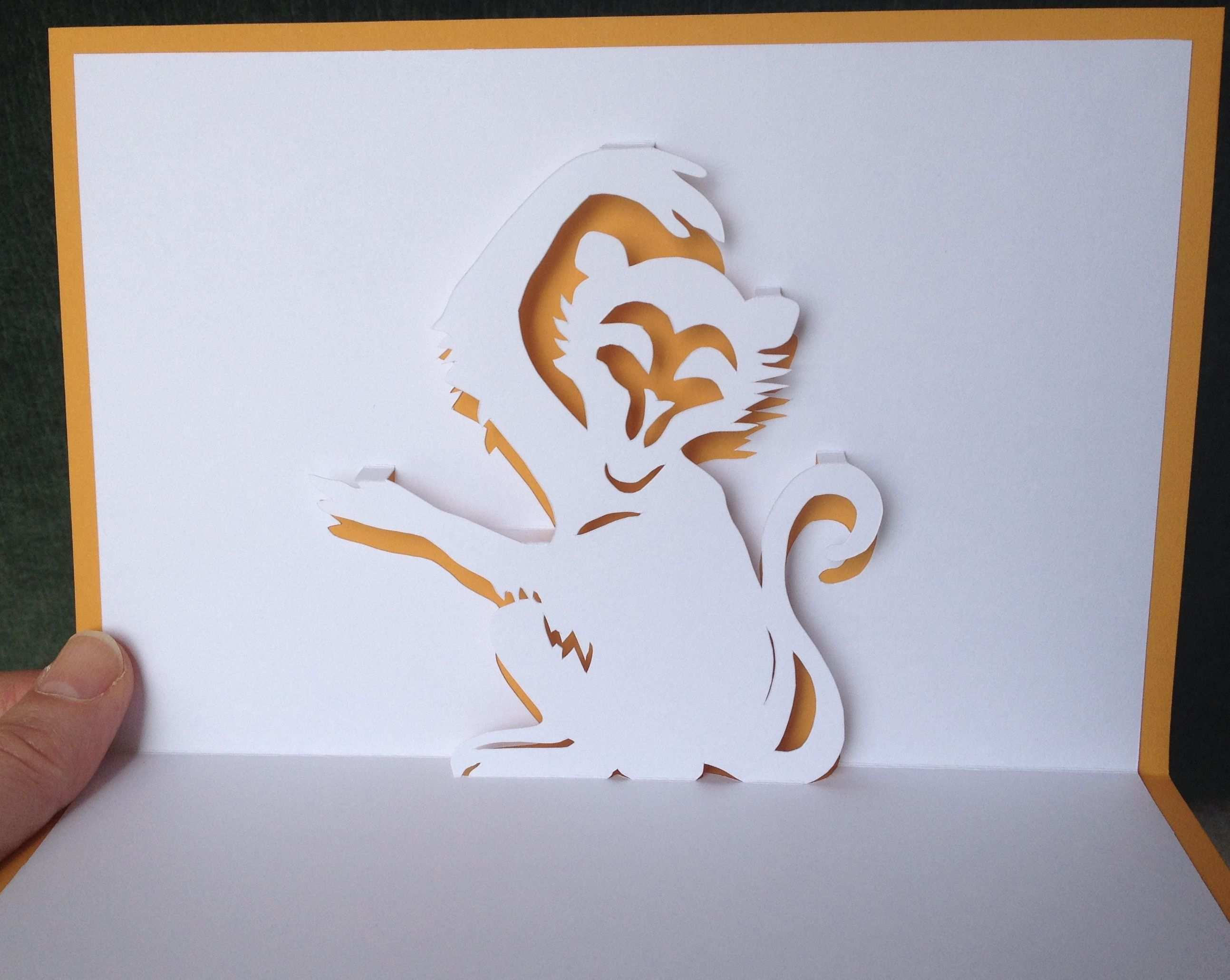 64 Creative Monkey Pop Up Card Template Download with Monkey Pop Up Card Template