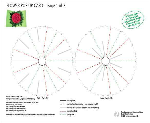 64 Free Pop Up Card Templates Free Pdf in Word for Pop Up Card Templates Free Pdf