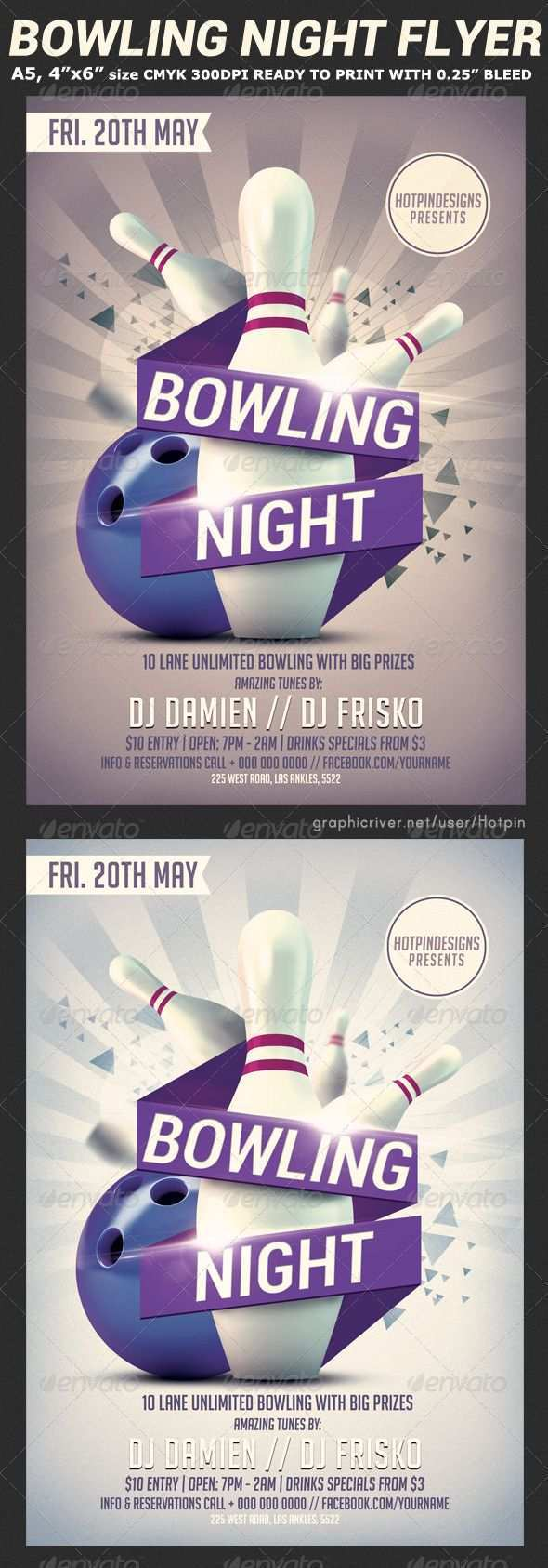 64 Free Printable Bowling Event Flyer Template Formating for Bowling Event Flyer Template
