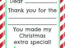 Holiday Thank You Card Template Free