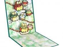 64 Online Owl Pop Up Card Template Maker by Owl Pop Up Card Template