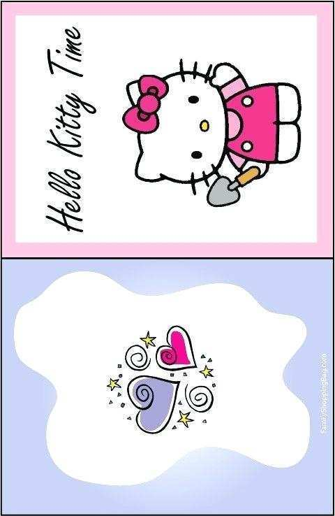 64 Printable Birthday Card Template Hello Kitty for Birthday Card Template Hello Kitty