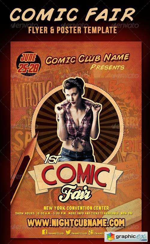 64 Printable Comic Flyer Template For Free for Comic Flyer Template
