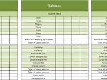 64 Standard Yahtzee Card Template PSD File for Yahtzee Card Template