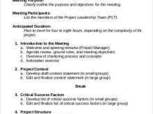 65 Best Meeting Agenda Structure Template For Free with Meeting Agenda Structure Template