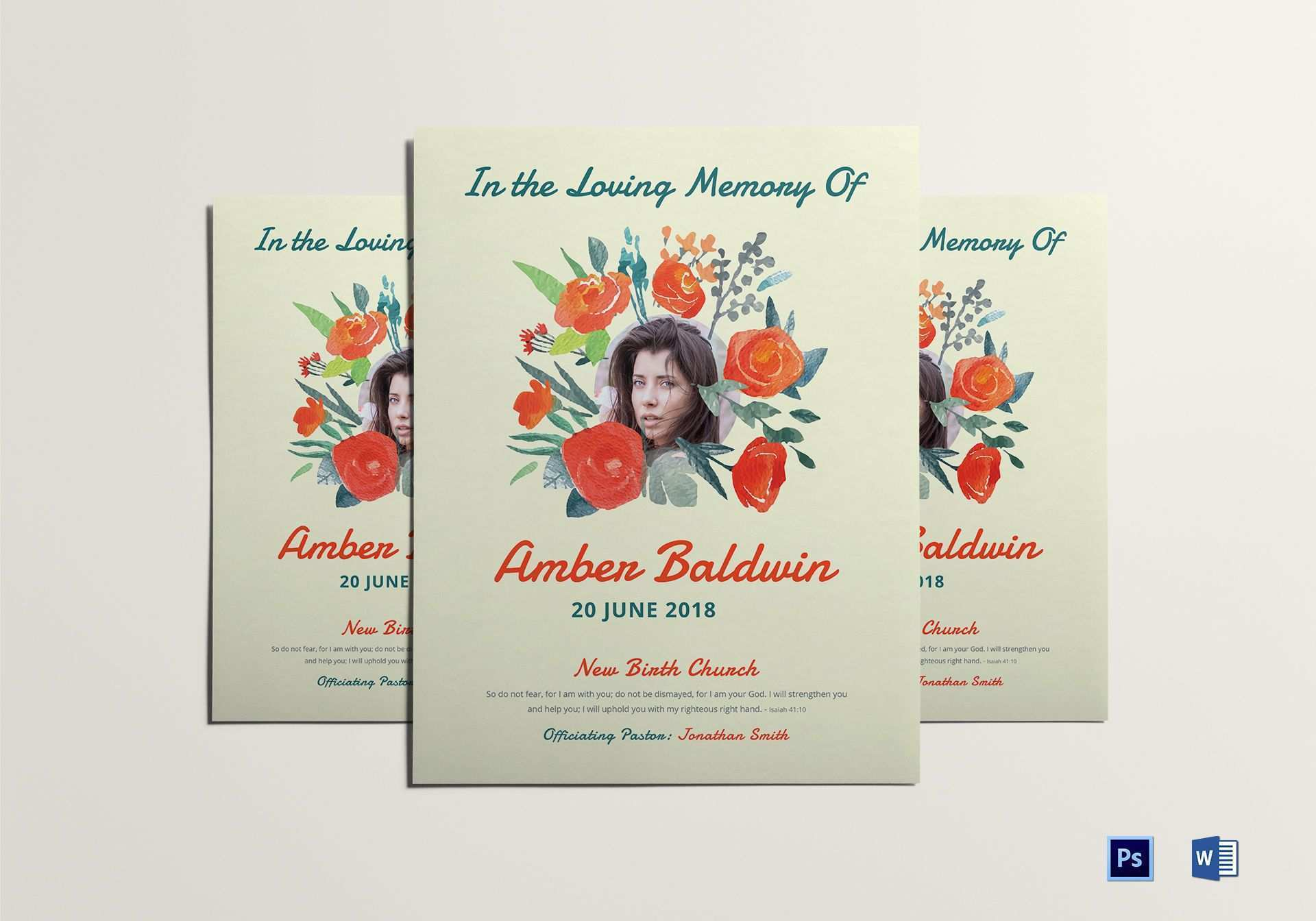 65 Creating Memorial Flyer Template Download by Memorial Flyer Template