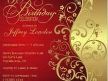 50Th Birthday Card Invitation Templates
