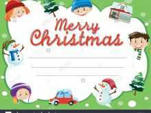 65 Creative Christmas Card Templates For Kids in Word for Christmas Card Templates For Kids