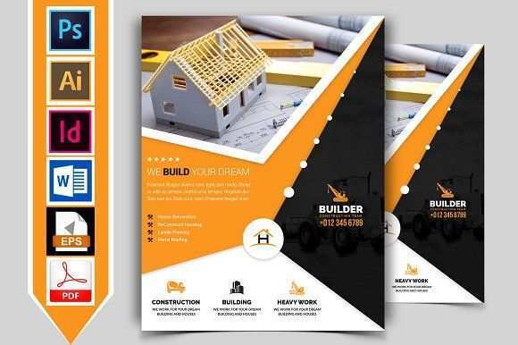 65 Customize Construction Flyer Template PSD File by Construction Flyer Template