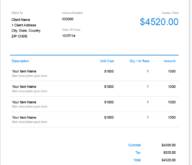 Hotel Invoice Template Free