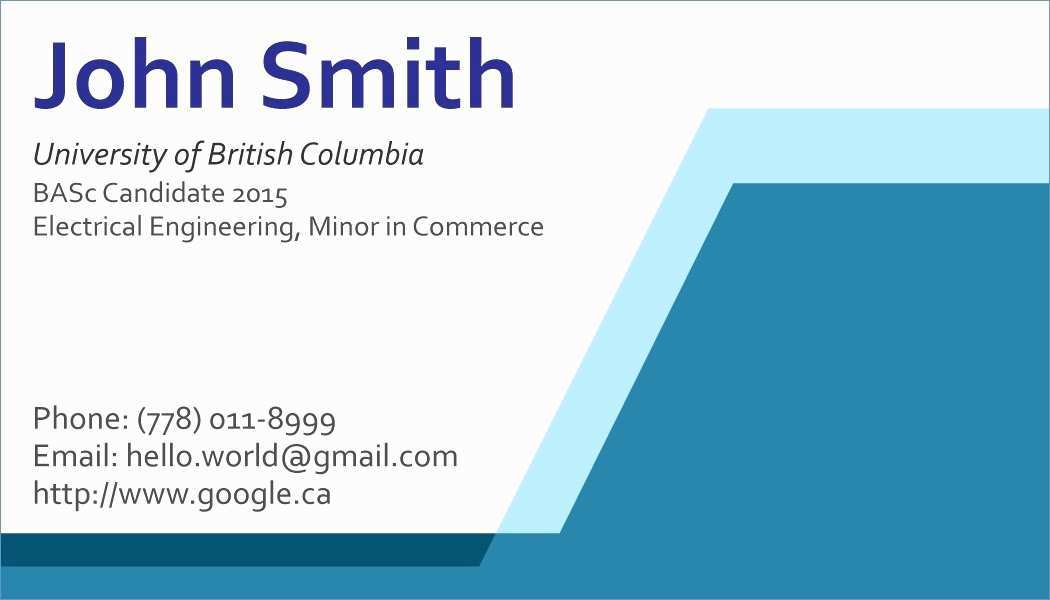 65 Customize Student Business Card Template Word Layouts with Student Business Card Template Word