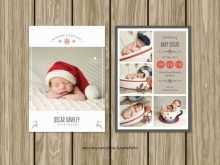 65 Free Printable Baby Christmas Card Template Maker with Baby Christmas Card Template