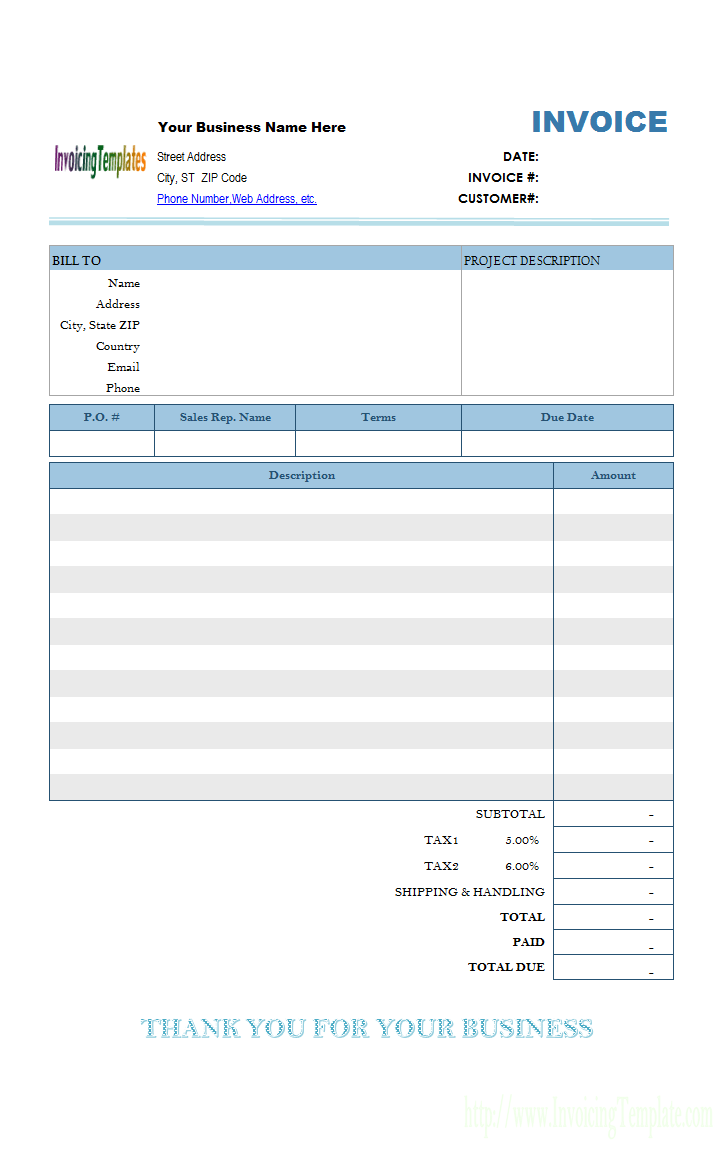 65 Free Printable Blank Tax Invoice Template Free Photo For Blank Tax Invoice Template Free Cards Design Templates