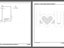 Pop Up Card Templates Heart