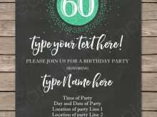 65 How To Create 60 Birthday Card Template For Free by 60 Birthday Card Template