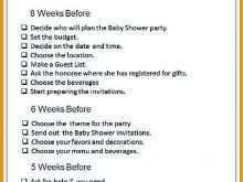65 Online Baby Shower Agenda Example for Ms Word for Baby Shower Agenda Example
