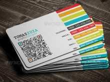65 The Best Business Card Template Qr Code Formating by Business Card Template Qr Code