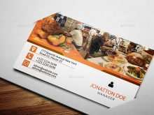 66 Customize Business Card Template Restaurant in Photoshop with Business Card Template Restaurant