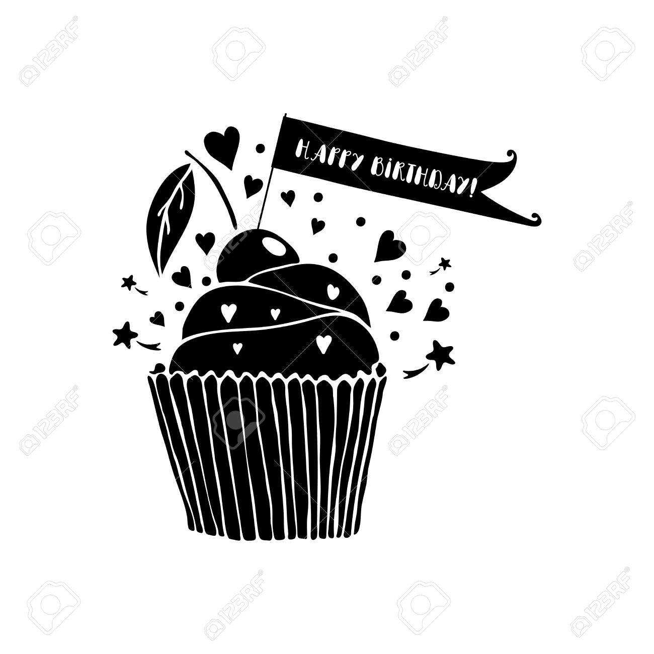 66 Customize Happy Birthday Card Template Black And White for Ms Word by Happy Birthday Card Template Black And White