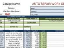 Repair Order Invoice Template
