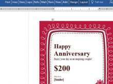 66 Format Birthday Gift Card Template Word For Free with Birthday Gift Card Template Word