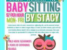 66 Free Babysitting Flyers Template Templates by Babysitting Flyers Template