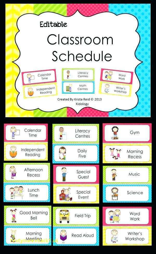 66 Free Class Schedule Template Elementary With Stunning Design