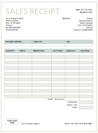 66 Printable Blank Receipt Template Doc in Photoshop with Blank Receipt Template Doc