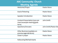 66 The Best Church Conference Agenda Template Formating by Church Conference Agenda Template