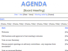 67 Adding Professional Agenda Templates For Meetings for Ms Word with Professional Agenda Templates For Meetings