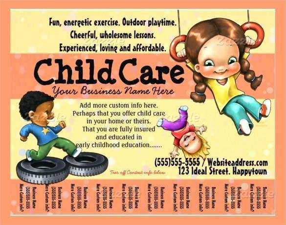 This is an image of Free Printable Daycare Flyers within simple