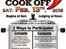 67 Blank Chili Cook Off Flyer Template in Word for Chili Cook Off Flyer Template