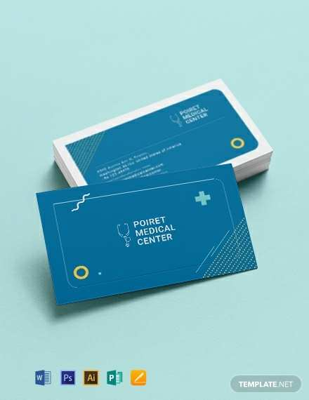 67 Create Medical Business Card Template Illustrator for Ms Word by Medical Business Card Template Illustrator