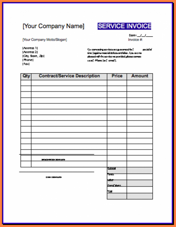 67 Creating Contractor Weekly Invoice Template for Ms Word for Contractor Weekly Invoice Template