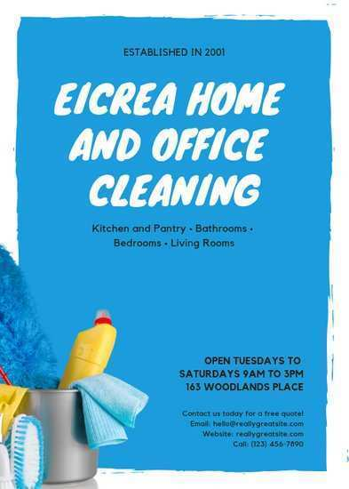 67 Creative Cleaning Flyers Templates Free Formating with Cleaning Flyers Templates Free