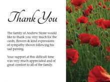 67 Creative Thank You Card Templates For Funeral Download for Thank You Card Templates For Funeral