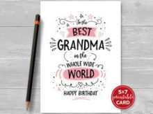 67 Customize Birthday Card Template Grandmother in Word for Birthday Card Template Grandmother