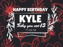 67 Format 18Th Birthday Card Template Free Now by 18Th Birthday Card Template Free