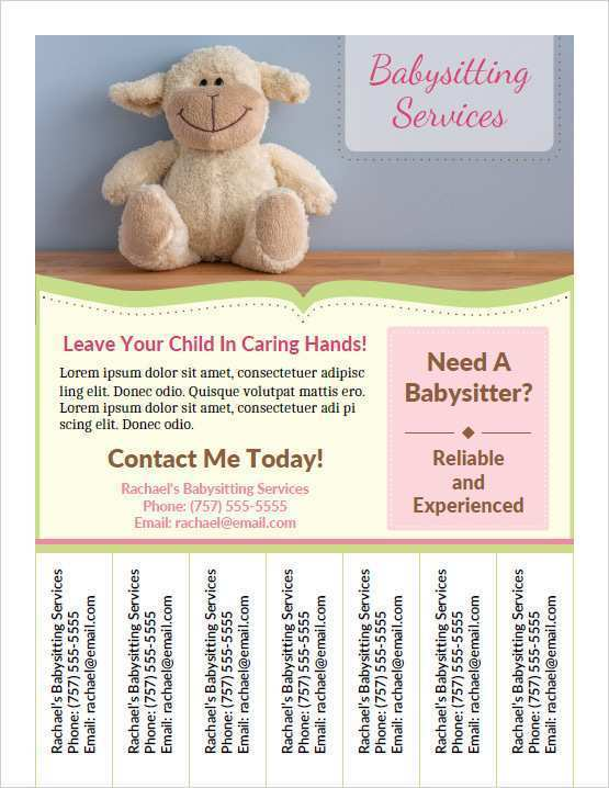 67 Format Babysitter Flyers Template Download for Babysitter Flyers Template