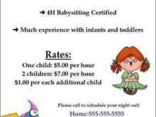67 Format Babysitting Flyer Free Template Photo with Babysitting Flyer Free Template