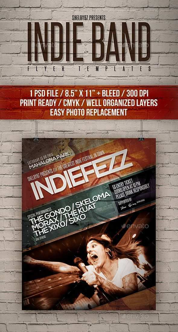 67 Format Band Flyers Templates in Photoshop by Band Flyers Templates