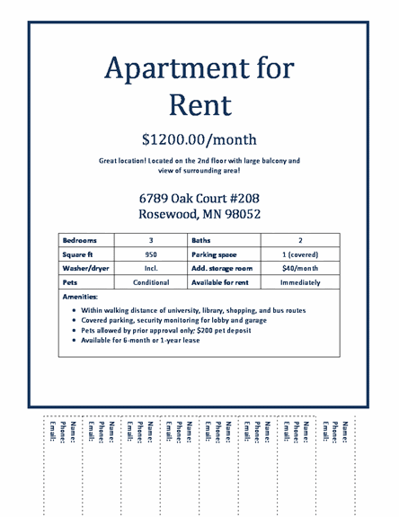 67 Free Printable Apartment For Rent Flyer Template Now by Apartment For Rent Flyer Template