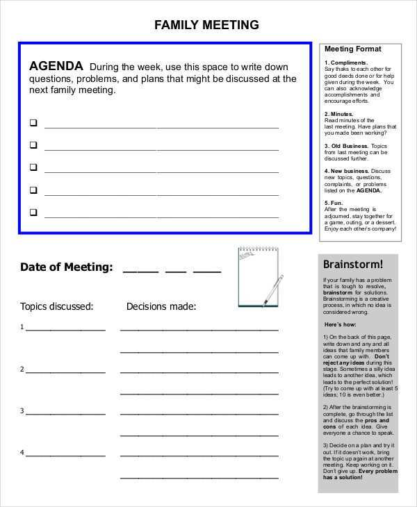 67 How To Create Agenda Template For Family Meetings Photo by Agenda Template For Family Meetings