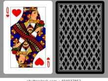 Playing Card Template Queen Of Hearts