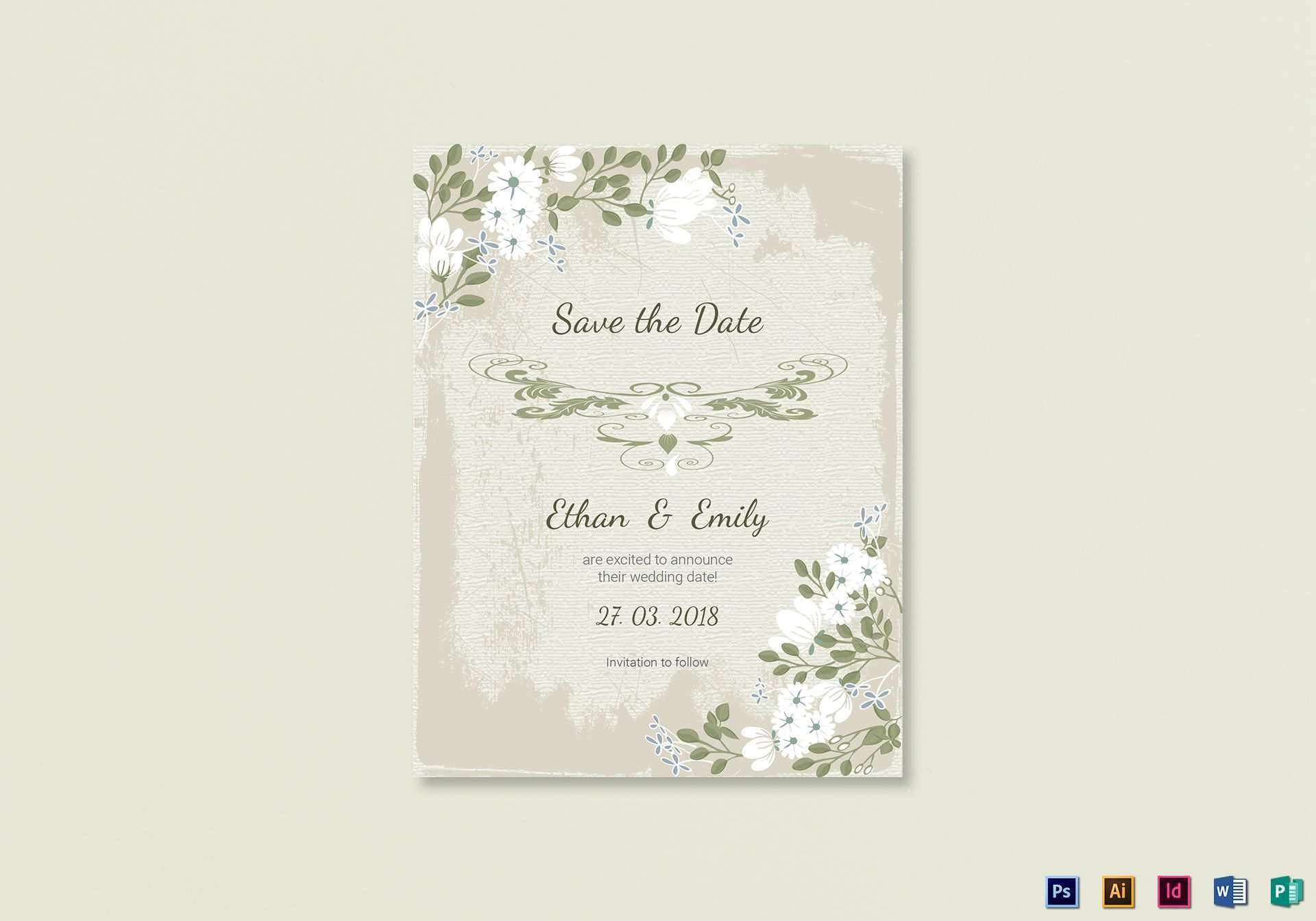Save The Date Card Template For Word
