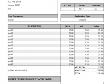 67 Printable Basic Vat Invoice Template Templates for Basic Vat Invoice Template