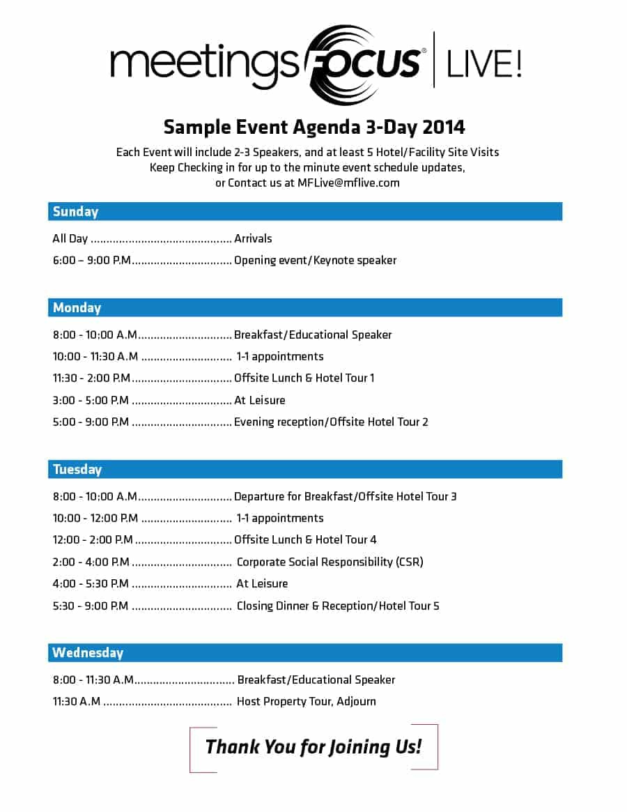 67 Printable Event Agenda Template Doc In Word By Event