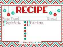 67 Report Editable Recipe Card Template Christmas Now with Editable Recipe Card Template Christmas